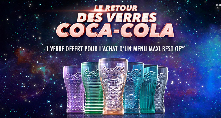 Le retour des verres « Coca-cola » : Menu Maxi Best-of = 1 Verre Collector offert !